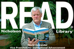 David Ostrander READ Poster by Paula Terry and Nicholson Library Staff