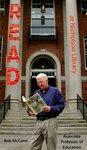 Bob McCann READ Poster by Paula Terry and Nicholson Library Staff