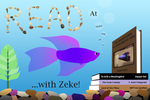 Zeke READ Poster by Ryan O'Dowd and Nicholson Library Staff