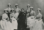 Emily Loveridge and Nursing Students by Unknown