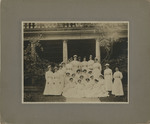 Nursing Students in Front of the Nurses' Home