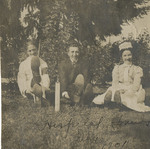 Students Seated on the Lawn 01 by Unknown