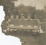 Nursing Students Behind a Bench by Unknown