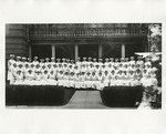 Nursing Students on the Front Steps by Acme Photo