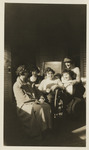 Nursing Students and a Patient on the Sun Porch by Unknown