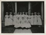 Nursing Graduates in front of Nurses' Home by Acme Photo