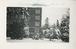 Snowy East Wing of Hospital by Unknown