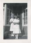 Nursing Student and Young Girl by Unknown