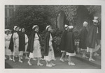 Nursing Graduates Outside Church 02 by Unknown