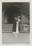 Graduate Outside of Church by Unknown