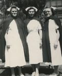Three Nursing Students in Uniform by Unknown