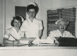 Three Nurses Keeping Records