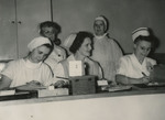 Hospital Staff at Floor Center by Unknown