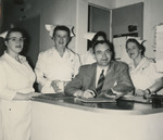 Nurses with Dr. Chauncey by Unknown
