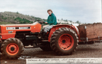 Barbara Dudley Drives a Tractor at Bethel Heights Vineyard