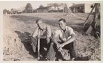 Two Men Resting During Planting by Unknown