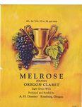 Doerner Vineyards Melrose Oregon Claret Wine Label 01 by Adolph H. Doerner