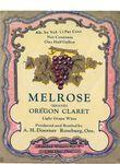 Doerner Vineyards Melrose Oregon Claret Wine Label 02 by Adolph H. Doerner