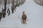 Dog in the Snow at Elton Vineyards 01 by Unknown