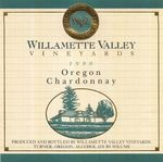 Willamette Valley Vineyards 1990 Oregon Chardonnay Wine Label by Willamette Valley Vineyards