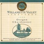 Willamette Valley Vineyards 1990 Oregon Chardonnay Wine Label