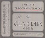 Glen Creek Winery 1986 Celeste White Wine Label by Glen Creek Winery