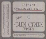 Glen Creek Winery 1986 Celeste White Wine Label