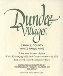 Dundee Villages Yamhill County White Table Wine Label by Knudsen Erath Winery