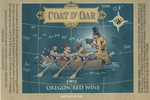 Coat D'Oar 1995 Oregon Red Wine Label
