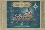 Coat D'Oar 1995 Oregon Red Wine Label by Knudsen Erath Winery