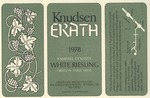 Knudsen Erath Winery 1978 Yamhill County White Riesling Wine Label