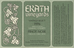 Erath Vineyards 1976 Appellation Yamhill County Pinot Noir Wine Label