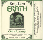Knudsen Erath Winery 1977 Appellation American Chardonnay Wine Label