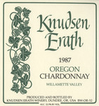 Knudsen Erath Winery 1987 Willamette Valley Oregon Chardonnay Wine Label