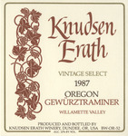 Knudsen Erath Winery 1987 Willamette Valley Oregon Gewürztraminer Wine Label