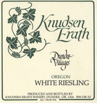 Knudsen Erath Winery Dundee Villages Oregon White Riesling Wine Label