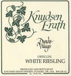 Knudsen Erath Winery Dundee Villages Oregon White Riesling Wine Label by Knudsen Erath Winery