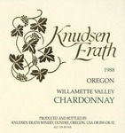 Knudsen Erath Winery 1988 Willamette Valley Chardonnay Wine Label