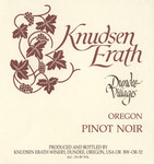 Knudsen Erath Winery Dundee Villages Oregon Pinot Noir Wine Label