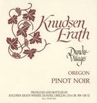 Knudsen Erath Winery Dundee Villages Oregon Pinot Noir Wine Label by Knudsen Erath Winery
