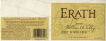 Erath Vineyards 2003 Willamette Valley Dry Riesling Wine Label