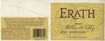 Erath Vineyards 2003 Willamette Valley Dry Riesling Wine Label by Erath Vineyards
