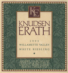 Knudsen Erath Winery 1993 Willamette Valley White Riesling Wine Label