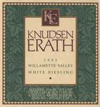 Knudsen Erath Winery 1993 Willamette Valley White Riesling Wine Label by Knudsen Erath Winery