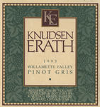 Knudsen Erath Winery 1993 Willamette Valley Pinot Gris Wine Label
