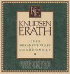 Knudsen Erath Winery 1990 Willamette Valley Chardonnay Wine Label