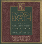 Knudsen Erath Winery 1987 Willamette Valley Pinot Noir Wine Label