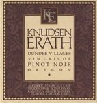 Knudsen Erath Winery Dundee Villages Vin Gris of Pinot Noir Wine Label
