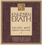 Knudsen Erath Winery Pacific Mist Oregon Table Wine Label