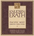 Knudsen Erath Winery Pacific Mist Oregon Table Wine Label by Knudsen Erath Winery